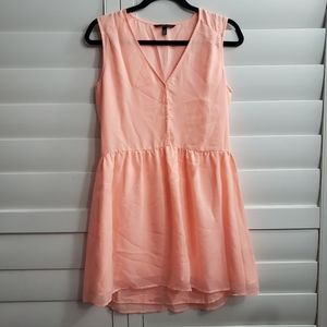 🌺victoria's secret peach high low dress